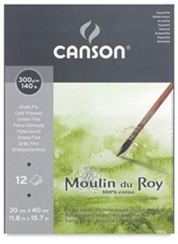Bloco Pintura Canson Moulin Du Roy A3 CP – 12 Fls