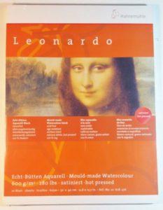Bloco Pintura Hahnemuhle Leonardo 30x40cm 600gr HP 100% 10fls