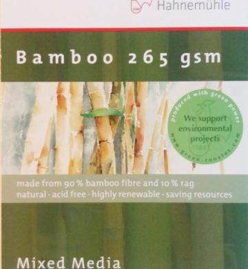 Bloco Pintura Hahnemuhle Bamboo Mix Media 8x10cm  265gr 10fls
