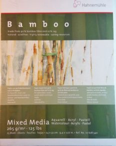 Bloco Pintura Hahnemuhle Bamboo Mix Media 24x32cm 265gr 25fls
