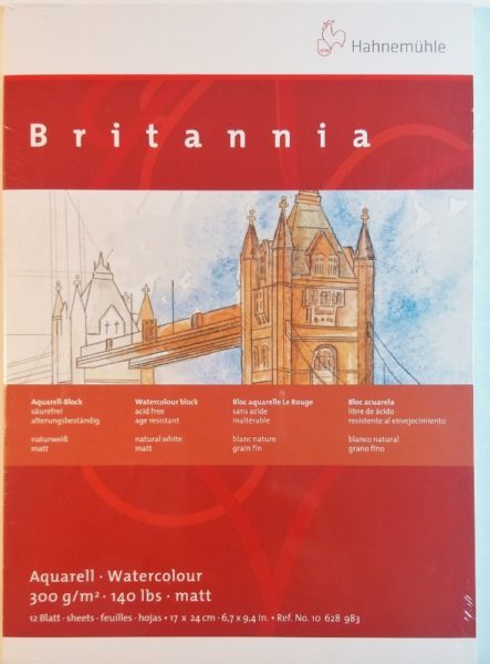 Bloco Pintura Hahnemuhle Britannia 17x24cm 300gr CP 12fls