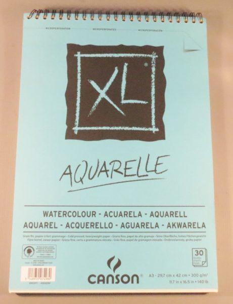 Bloco Pintura Canson XL Aquarela A3 300gr – 30 fls