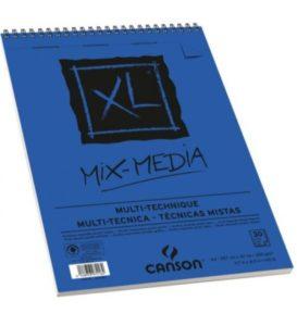 Bloco Pintura Canson XL Mix Media A3 300gr – 30 fls