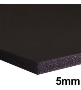 Cartão Pluma Montado Foamboard 5mm 80×100 Preto