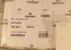 Papel Canson Guarro 50×70 350gr CP 60% algodão – Folha Avulsa