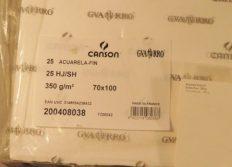 Papel Canson Guarro 100×70 350gr CP 60% Algodão – Folha Avulsa
