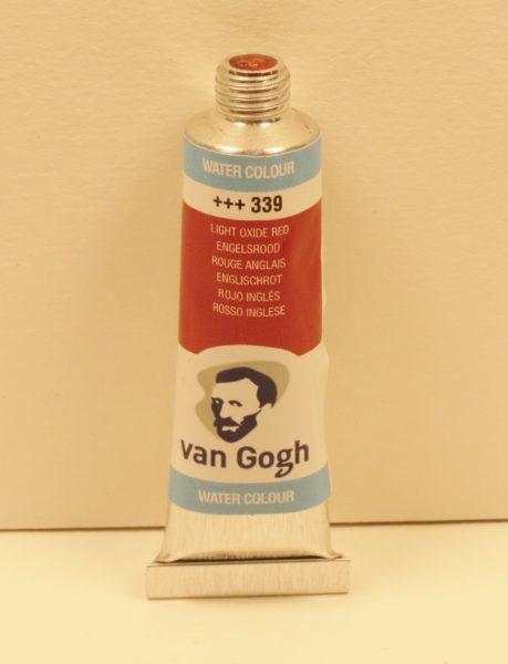 Tinta Aquarela Van Gogh Light Oxide Red #339 -10ml