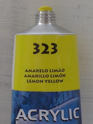 Tinta Acrilica  Acrilex Amarelo Limão #323 – 59ml