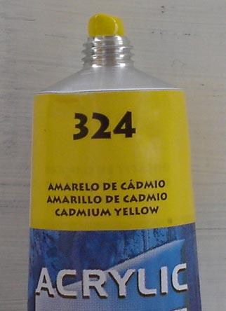 Tinta Acrilica  Acrilex Amarelo Cadmio #324 – 59ml