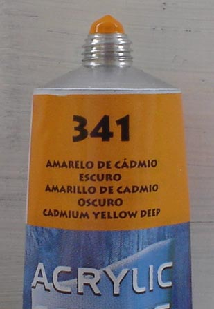 Tinta Acrilica  Acrilex Amarelo Cadmio Escuro #341 – 59ml