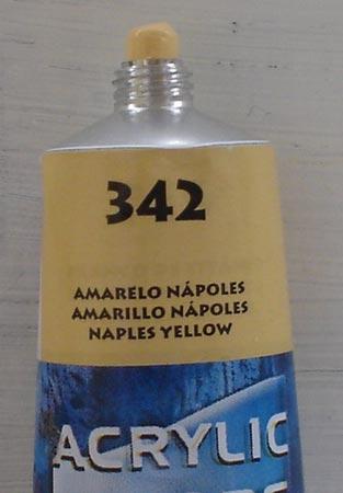 Tinta Acrilica  Acrilex Amarelo de Napolis #342 – 59ml