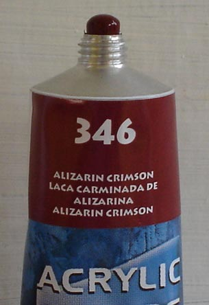 Tinta Acrilica  Acrilex  Alizarim Crimson #346 – 59ml