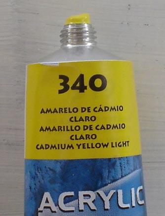 Tinta Acrilica  Acrilex Amarelo Cadmio Claro #340 – 59ml