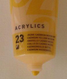 Tinta Acrílica Pébéo Amarelo Cadmio #23-100ml