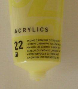 Tinta Acrílica Pébéo Amarelo Cadmio Limão #22-100ml