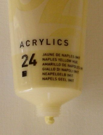 Tinta Acrílica Pébéo Amarelo Nápolis#24-100ml