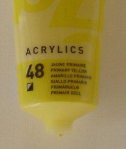Tinta Acrílica Pébéo Amarelo Primario #48-100ml
