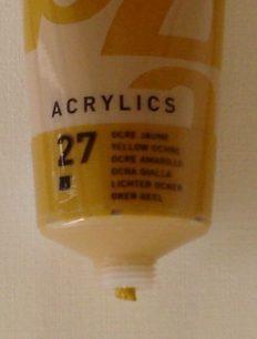 Tinta Acrílica Pébéo Amarelo Ocre #27-100ml
