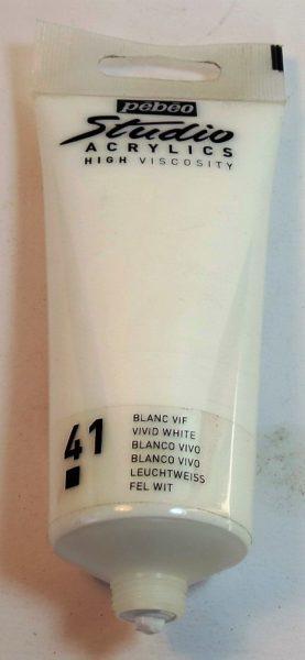 Tinta Acrílica Pébéo Branco Vivo #41 – 100ml