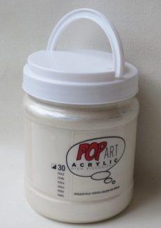Tinta Acrílica Pébéo Pop Art Pearl White #30 – 700ml
