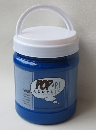 Tinta Acrílica Pébéo Pop Art Primary Cyan #08 – 700ml