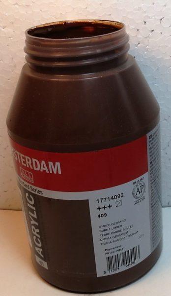 Tinta Amsterdam Acrylic Burnt Umber #409 – 1000ml
