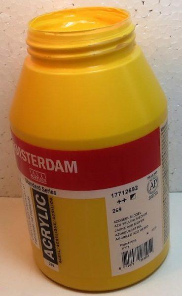 Tinta Amsterdam Acrylic Azo Yellow Medio #269 – 1000ml
