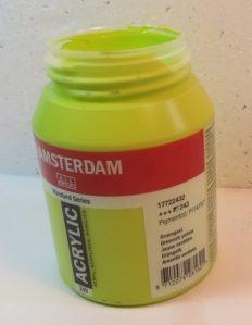 Tinta Amsterdam Acrylic Greenish Yellow #243 – 500ml