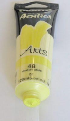Tinta Acrílica Corfix Arts Amarelo Limão #048 – 120ml G1