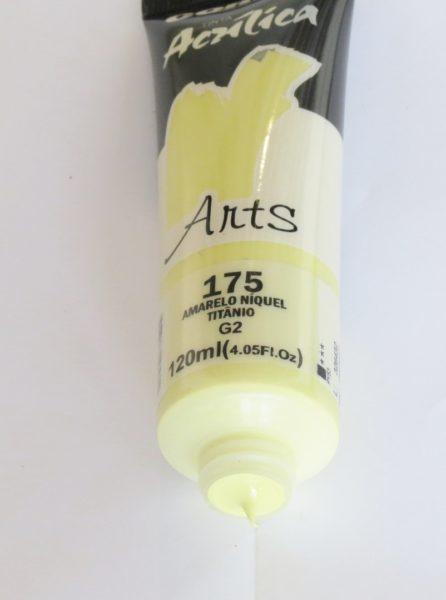 Tinta Acrílica Corfix Arts Amarelo Níquel Titânio #175 – 120ml G2