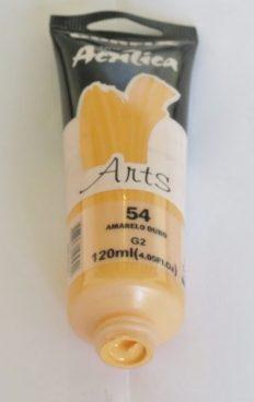 Tinta Acrílica Corfix Arts Amarelo Ouro #054 – 120ml G2