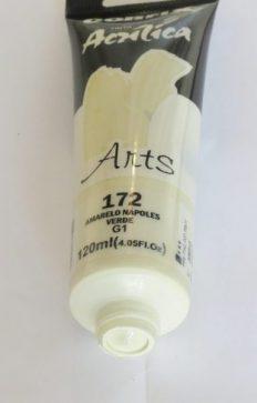 Tinta Acrílica Corfix Arts Amar Nápoles Verde #172- 120ml G1