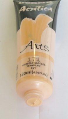 Tinta Acrílica Corfix Arts Amarelo Nápoles Vermelho #171 – 120ml G1