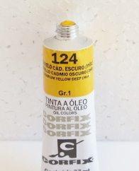 Tinta Óleo Corfix Amarelo Cadmio Escuro Imit. #124 -37ml Gr1