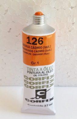 Tinta Óleo Corfix Alaranjado Cadmio imitação #126 – 37ml Gr1