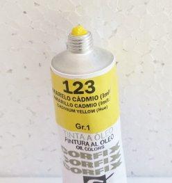 Tinta Óleo Corfix Amarelo Cádmio Imitação #123 – 37ml Gr1