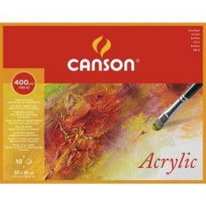 Bloco Pintura Canson Acrylic 32x41cm – 400gr 10fls