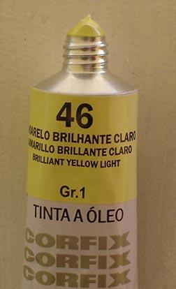Tinta Óleo Corfix Amarelo Brilhante Claro #046 – 37ml Gr1