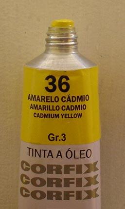 Tinta Óleo Corfix Amarelo Cadmio #036 – 37ml Gr3