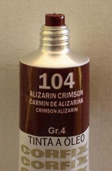 Tinta Óleo Corfix Alizarin Crimson #104 – 37ml Gr4