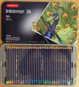 Estojo de Lápis Aquarelável Derwent Inktense c/36 cores