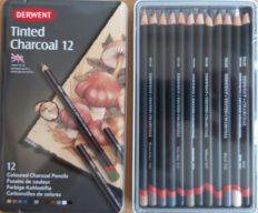 Lápis Carvão Colorido Derwent c/12cores