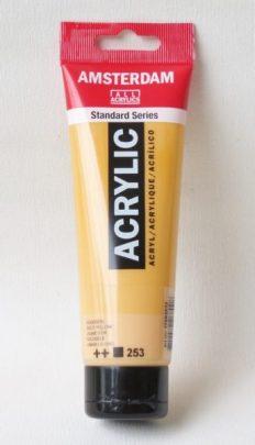 Tinta Acrílica Amsterdam  Gold Yellow #253-120ml