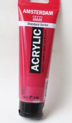 Tinta Acrílica Amsterdam  Carmine #318 – 120ml