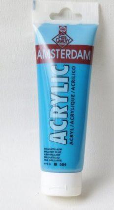 Tinta Acrílica Amsterdam  Brilliant Blue #564-120ml