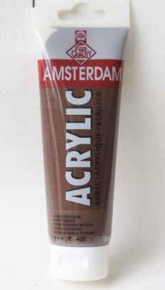 Tinta Acrílica Amsterdam  Burnt Umber #409-120ml