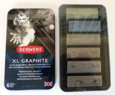 Barra de Grafite XL Derwent kit c/6 cores