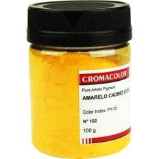 Pigmento Cromacolor 102 Amarelo de Cádmio Ouro PY35 – 100gr
