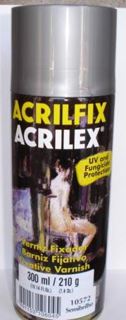 Verniz Spray Fixador Semibrilho Acrilex –  210gr