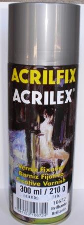 Verniz Spray Fixador Brilho Acrilex – 210gr
